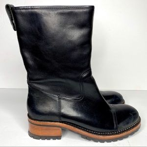 ASH Leather Moto Loggers Boots - NEW